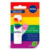 Protetor Labial Nivea Soft Rosé  Edição Limitada Orgulho -