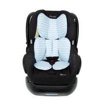 Protetor para Bebê Conforto/Cadeirinha de Carro-Chevron Azul - Momis petit