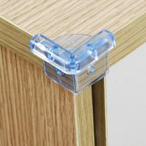 Protetor para Quina de Mesa ou Móveis Transparente Tamanho G com 4 Unidades - Multikids -