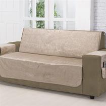 Protetor para sofa avulso 3 lugares suede amassado ll3 bege - nc home -