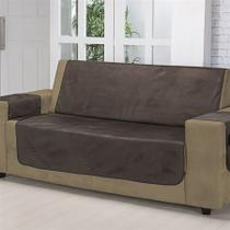 Protetor para sofa avulso 3 lugares suede liso ll3 chocolate - nc home -