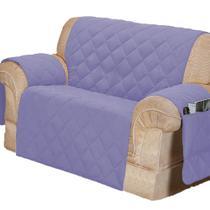 Protetor Para Sofá De 02 Lugares Com Assento De 1,05M Microfibra Matelado - Lilás - Lucélia Bordados