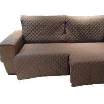 Protetor Para Sofá De 3 Módulos Microfibra Matelado Retrátil Reclinável Com Assento De 2,90M - Enxovais Ibitinga