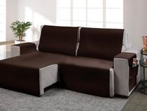 Protetor para sofa retratil onix marron 533* - Adomes