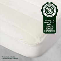 Protetor Pillow Top Pytuna Algodão Ecológico - Impermeável Solteiro King -