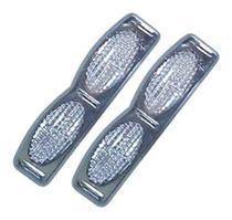 Protetor porta Duplo Base Cromada Cristal par APOLLO - Spto