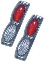Protetor porta Duplo Base Cromada Cristal vermelho par SANTANA 1998 1999 - Spto
