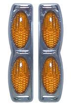 Protetor porta Duplo Base Cromada Laranja par GM Chevette Ouro preto - Spto