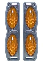 Protetor porta Duplo Base Cromada Laranja par GM Corsa Classic - Spto
