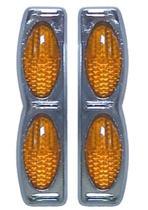 Protetor porta Duplo Base Cromada Laranja par GM Prisma 2010 - Spto