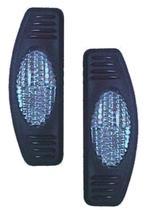 Protetor porta Simples Base Preta Cristal par GM Chevette L - Spto