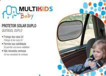 Protetor solar duplo para carro - preto multikids - Multikids  Bbay