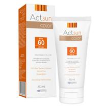 Protetor Solar Facial com Cor de Base Fps60 Actsun Color - Protetor Solar -