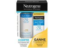 Protetor Solar Facial e Corporal Neutrogena FPS 70 - Sun Fresh