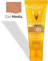 Protetor Solar Facial Idéal Soleil Clarify - Cor Média - FPS60 - 40g - Vichy -