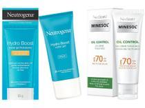 Protetor Solar Facial NeoStrata FPS 70 Oil Control - Oily Skin Gel Plus 40g + Gel Neutrogena 25 FPS 55g