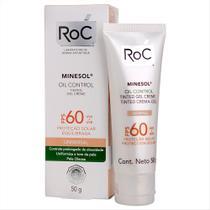 Protetor Solar Facial Roc Minesol Oil Control Tinted FPS 60 50g -