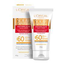 Protetor Solar L'Oréal Paris Solar Expertise Facial Antirrugas FPS 60 -