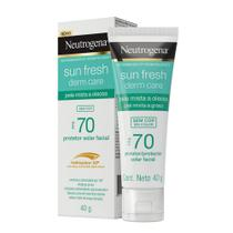 Protetor Solar Neutrogena Sun Fresh Derm Care Facial FPS70 -