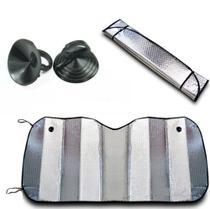 Protetor Solar Parabrisa Automotivo Metalizado Duplo - Techone - Universal