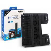 Ps4 Base Multifuncional Com Cooler E Carregador De Controle - Dobe