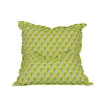 Puff Almofadão Acquablock Verde e Amarelo - Stay puff