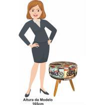 Puff Banqueta Decorativa Felipe  Motos Moveis Mais - Atual estofados