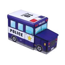 Puff Bau Organizador de Brinquedos Infantil Policia - Multivisão