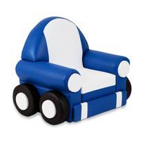 Puff Car Azul e Branco - Stay puff