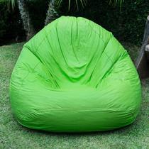 Puff Fofão 72cmx115cmx80cm Corino Siena Móveis Verde -