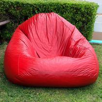 Puff Fofão 72cmx115cmx80cm Corino Siena Móveis Vermelho -