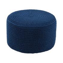 Puff Pastilha Crochê Azul Royal - Stay puff
