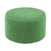 Puff Pastilha Crochê Verde - Stay puff