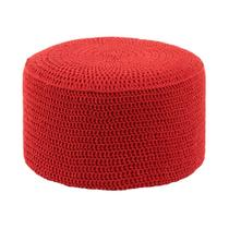 Puff Pastilha Crochê Vermelho - Stay puff