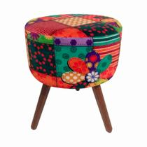 Puff Urban Patchwork Colorido - Decor