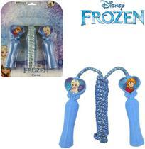 Pula Corda Cabo Plástico de Brinquedo Coração 1,95m Frozen - Etitoys