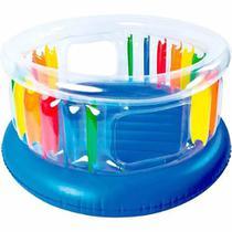 Pula Pula Inflável Colorido JILONG Giant Trampoline Trampolim Cama Elástica -
