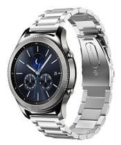 Pulseira Aço Inoxidável P/ Samsung Galaxy Watch 46mm - Prata - Jetech