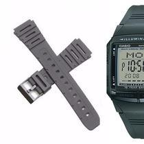 bc509276ff9 Pulseira Compatível para Relógio Casio DB-36 de Silicone Preta - Oficina  dos relogios