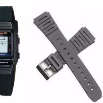 892c1434dfc Pulseira Compatível para Relógio Casio DB53 de Silicone Preta - Oficina dos  relogios
