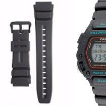 297ca90e4a2 Pulseira Compatível para Relógio Casio Dw 290 de Silicone Preta - Oficina  dos relogios