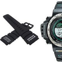 adb8002558b Pulseira Compatível para Relógio Casio Protek PRT40 de Silicone Preta -  Oficina dos relogios