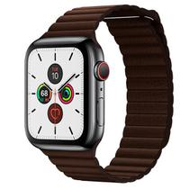 Pulseira Couro Loop Para Apple Watch Series 1,2,3 e 4 Marrom Escuro - Incommerce