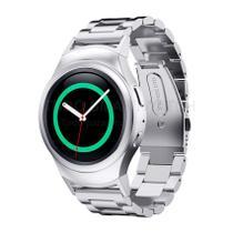 Pulseira de Aço Inox Prata para Relógio Samsung Galaxy Gear S2 Sport - Tudo Smartwatch