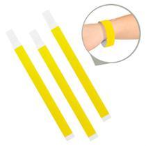 Pulseira de Identificação Papel Amarelo Neon - Festabox