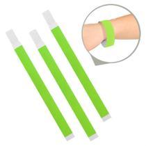 Pulseira de Identificação Papel Verde Neon - Festabox