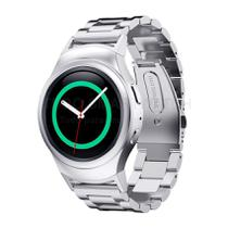 Pulseira de Metal Aço Inox Prata para Relógio Samsung Galaxy Gear S2 Sport - Tudo Smartwatch