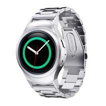 Pulseira de Metal Inox Prata para Relógio Samsung Galaxy Gear S2 Sport - Tudo Smartwatch