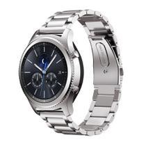 Pulseira de Metal Inox Prata para Relógio Samsung Galaxy Gear S3 Classic - Tudo Smartwatch