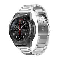 Pulseira de Metal Inox Prata para Relógio Samsung Galaxy Gear S3 Frontier - Tudo Smartwatch